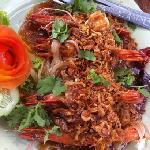 King prawns in tamarind sauce