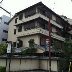 Hotel from street, busy corner, a lot of noise