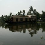 A houseboat on the backwaters