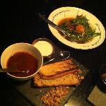 Thai Roti bread with Rendang curry; Tofu