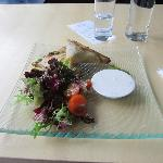 Pirogs and sallad at KUMU Art Museum Cafe