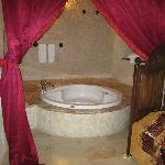 Separate room from bathroom.  Jacuzzi and beautiful cave features inside on left (not shown)
