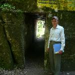 My guide outside Hitler's bunker
