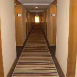 corridor to room from lift