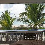 View from beachfront suite screened patio