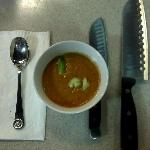 Gazpacho; tasting the fruit of our labor from the class!