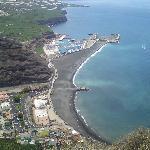 Puerto del Tazacorte from the mirador footpath.