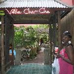 The entrance to the Villa Cha-Cha