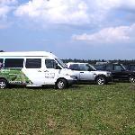 Some of Crush on Niagara's touring vehicles.