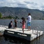 FAMILY FISHING OFF THE DOCK