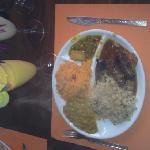 Une assiette du buffet