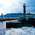 Whitby Piers from the outer West pier