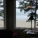View of the beach from the Yaquina Room