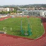 Campo de fútbol visto desde las habitaciones lado norte