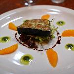 nori wrapped  home smoked trout terrine