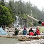Camping at the world famous Tsusiat falls