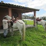 Jose Maria adjusting my stirrups