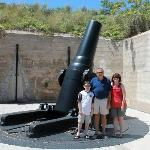 One of the artillery pieces found at the fort.
