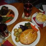 rabbit pie and lamb shank