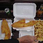 takeaway haddock and chips