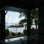 Our beach area thru bure window.....