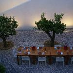 Le patio pour le petit-déjeuner ou le dîner