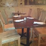 Tables, chairs, floors all made from locally grown woods
