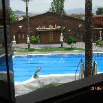 View of pool area from room 405, 2nd floor