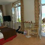 View of room showing door and window locations