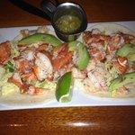 yummy lobster tacos