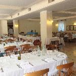 la sala da pranzo (parziale)