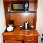 Microwave, coffeemaker