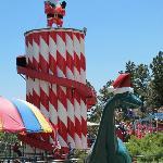 Santa slide and Santa dino
