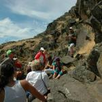 Guided rock art tour at Horsethief Park
