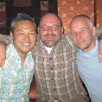 Soni, Bernhard und Robert at the Lamating