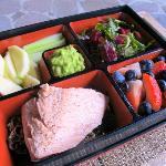 Bento box at the spa
