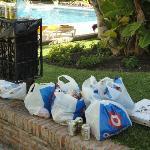Rubbish left around the pool 2