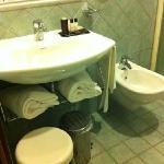 Nice, clean toilet.