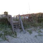 Steps from hotel to beach