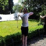 Archery in the garden