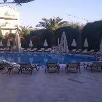 Mid-evening view of the pool