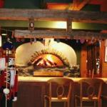 Wood-fired oven, where their fabulous flatbreads are made!