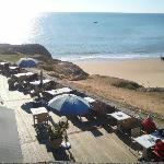 La terrasse avec vue sur la grande côte et le phare de Cordouan