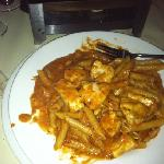 penne alla vodka! great! big portions!