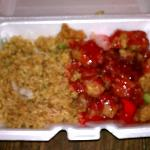 Fried Rice and Sweet and Sour chicken