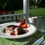 Breakfast served on the porch