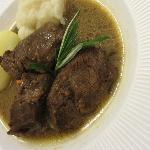 "The plat: Stewed beef as ""pot au feu"" - exceptional!"