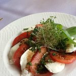 Extremely fresh cheese, tomatoes.........