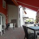 Terrasse vor Bar