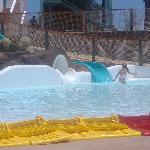 waterpark kids splash pool and slides